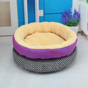 Large Round Dog Beds Pet Cushion House Soft Warm Kennel Blanket Nest Washable