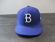 New Era Brooklyn Dodgers Hat Cap Fitted 7 3/8 Blue White Baseball Los Angeles