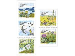 SWEDEN 2021 Precious Nature 5 stamps 5 motif