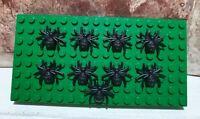 9 x Lego Spider 29111, Black Genuine Parts