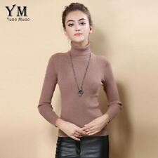 YuooMuoo High Quality Women Sweater New Turtleneck Pullover Winter Tops Solid Ca