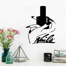Nails Beauty Salon Wall Sticker Girl Bedroom Vinyl Art Decal Home Salon DIY Deco