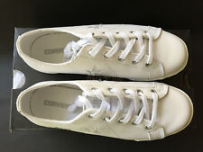 Converse All Stars One Star Leather NEW White Low-Tops Sneakers Trainers size 33