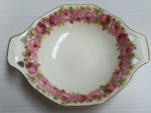 Royal Doulton Raby Rose Pattern D5533 Shape 8051A Tab Handle Sweets Bowl c1940