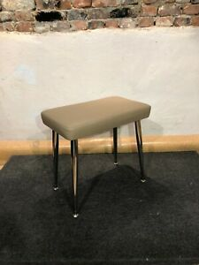 Genuine Leather Wurlitzer 200 series BENCH with Legs and Plates -  Beige