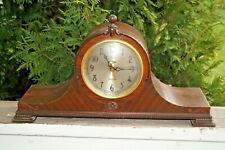 Rare Vintage 1940s Revere Ship's Bell Telechron Shelf Mantle Clock Works Perfect