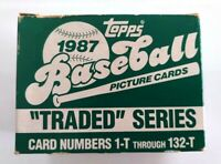 1987 Topps Traded Baseball Factory Set 1-132 Greg Maddux RC Rookie Cubs Braves