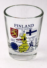 FINLAND EU SERIES LANDMARKS AND ICONS COLLAGE SHOT GLASS SHOTGLASS