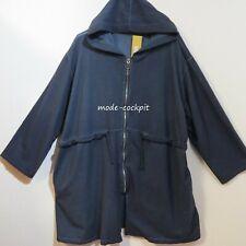 LA BASS Sweaty Jacke Parka Mantel Kapuze Vintage Baumwolle blau 48-50-52 (1)
