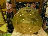 Fin XIX ,  Rare et originale bouillotte en cuivre !pour déco??