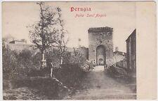 (Q6-169) 1930 Italy postcard Perugia porta Sant'Angelo