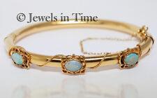Opal Vintage Bangle Bracelet in 14k Yellow Gold