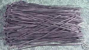 """500pc. 12"""" BLACK CABLE / WIRE TIES new terminal zip tie 3.6mm"""