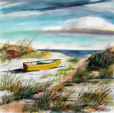 ORIGINAL Sea Landscape Large WATERCOLOR Painting JMW art J Williams Impression