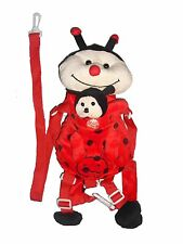 Ladybug Child Safety Harness Leash For Kids with Small Backpack Storage Area