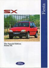 Molto RARO FORD FIESTA SX SPECIAL EDITION brochure 1991 mai lasciato showroom