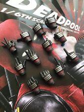 "Hot toys MMS490 Deadpool Xmen Marvel Deadpool 2 12"" 1/6 Hands"