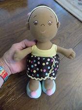 Adorable Aurora Baby African American Girl Doll Plush Stuffed Lovey Toy Sierra