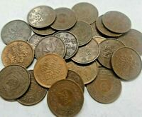 Monedas japonesas de 1 sen de Taisho o Showa de bronce 1918 a 1938 AU/XF-