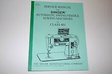 Complete, Full Edition, Service Manual on CD for Singer 401 401A Sewing Machines