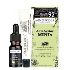 New ANTIPODES Anti-Ageing Minis - Anti Aging Night Serum & Cream