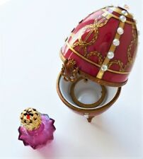Faberge Egg Perfume Chest New Genuine Limoges Peint Main Porcelain Box Rare $495