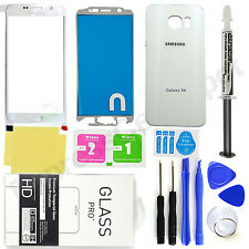 Samsung Galaxy S6 G920 OEM White- Front & Back Glass Lens Screen Replacement Kit