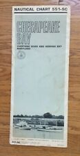 New listing Nautical Chart 551-Sc 1970 Chesapeake Bay Choptank River Herring Bay Dept of Com