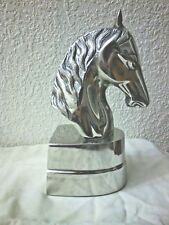 HANDCRAFTED SILVER CHESS KNIGHT STATUE