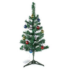 2 ft Green Artificial Indoor Christmas Tree With LED Lights Baubles Decorations