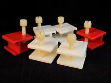 """Set of 6 PLASTIC LAB CLAMPS screw tightening pinch clamp accepts 3/4"""" bar"""