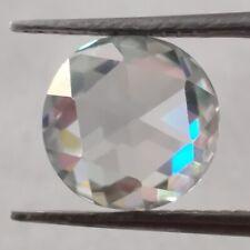 Rose Cut Loose Moissanite Use 4 Ring Making 2.73 Ct 9.72 Mm Vvs1 Ice Blue Round