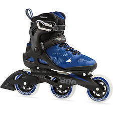 Rollerblade 100 3Wd Women's Adult Fitness Inline Skate Size 9.5, Blue (Used)