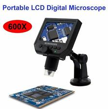 "600X USB Microscope LCD Digital Video Magnifying Camera 4.3"" HD OLED + LED Light"