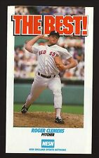 Boston Red Sox--Roger Clemens--Wade Boggs--1988 NESN/Store 24 Schedule