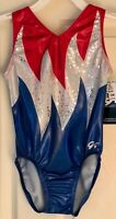 GK BLAZING FREEDOM CHILD LARGE REPLICA 2004 ATHENS GAMES GYMNAST TANK LEOTARD CL
