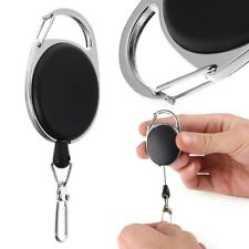 Ajustable Retractable Reel Wire Rope Keychain With Hook Anti-theft Antilost