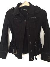 RR.  Jane Norman Black Cotton Jacket  10 Women's