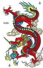 "D500 Dragon red Racing Tuning Sticker Decal 1 Sheet 10,5""x7"" / 27x18 cm"