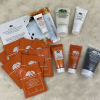 Origins Ginzing Eye Cream & Gel Moisturizer & Scrub Cleanser NEW Sample Set