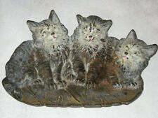 Antique B&H Bradley Hubbard Victorian Cast Iron Cat Kitten Art Tray Holder Plate