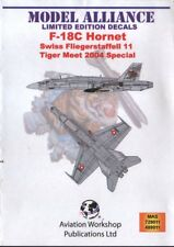 Modello ALLEANZA Decalcomanie ML489011 1:48 McDonnell-DOUGLAS F/A-18C SWISS TIGER MEET