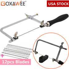 GOXAWEE JEWELRY TOOLS Set Adjustable Hand Jewelers Saw various blade lengths