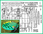 """Model Airplane Plans (UC): SASSY SAUCER 25"""" Circular-Wing Stunt/Sport for .19-35"""
