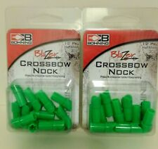2 Packs 24 Green Bohning Blazer Half Moon Crossbow Nock's Press Fit.