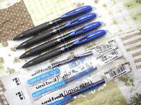 5 pens + 3 refill UNI-BALL Skip Free Writing UMN-307 0.7mm roller ball pen Blue