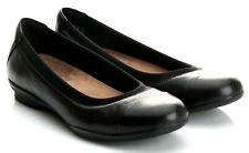 Clarks Unstructured Neenah Garden Black Leather Ballerina Shoes Size UK 4D EU 37