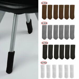 12 Pcs Knitted Chair Legs Socks Legs Protectors Floor Furniture Table Legs Socks