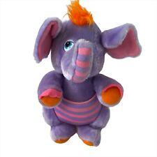 "Wuzzles Eleroo Hasbro Softies 1985 DISNEY 12"" Plush Purple ELEPHANT Kangaroo VTG"