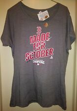 Boston Red Sox Shirt Majestic 2016 AL Champs World Seiries MLB October Womens XL